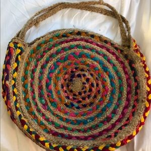 Perfect colorful woven knit bag. BeAch bag.